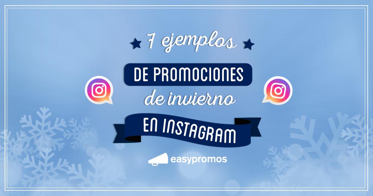 Promociones invierno Instagram