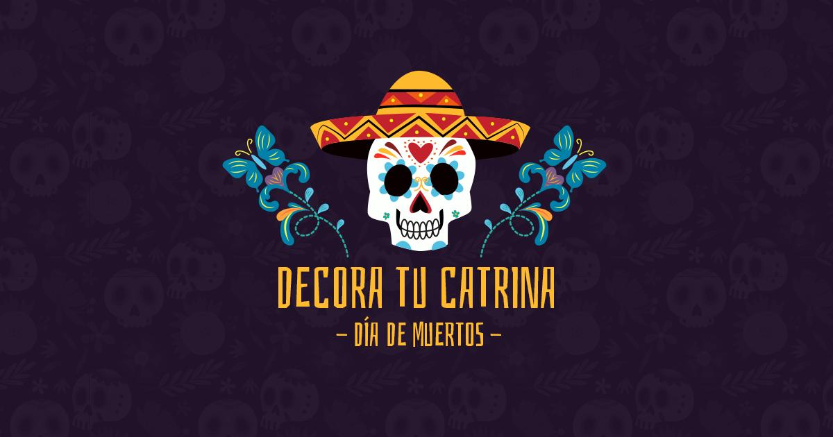 Celebra el Día de Muertos decorando una Catrina